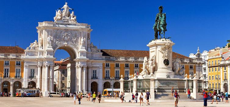 praça do comércio em Lisboa - nacionalidade portuguesa