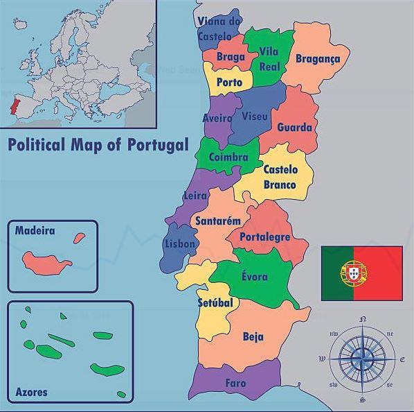 Mapa De Portugal Entenda Como O Pais E Dividido