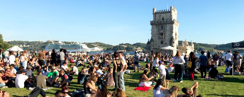 Jardim da Torre de Belém - nacionalidade portuguesa