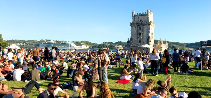 Torre de Belem em Portugal - nacionalidade portuguesa