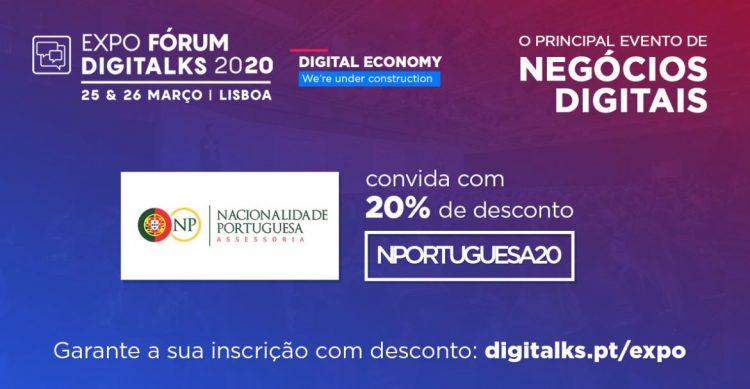 ingresso digitalks 2020 - nacionalidade portuguesa