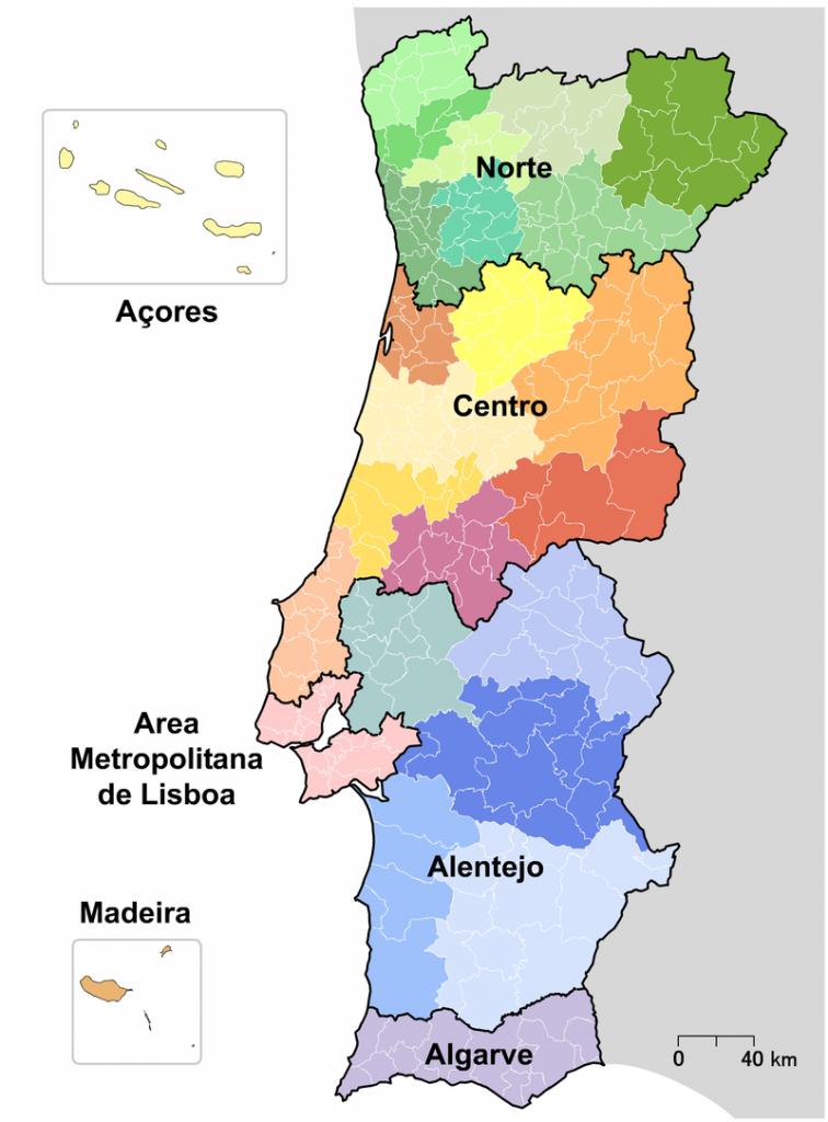 entenda o mapa de portugal